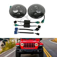 2x 7 Inch Round LED Projector Hi-Lo Beam Headlight For Jeep Wrangler JK LJ TJ CJ
