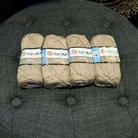 Yarn Art Tahiti Tan 50g 153yds Lot of 4 Skeins