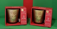 NEW LENOX Golden Holidays Set of 2 -  Up On The Rooftop4 Inch GlassVotives