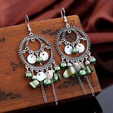Multicolor Fashion Dangle Hook Jewelry Boho Ear Stud Tassel Chain Earrings