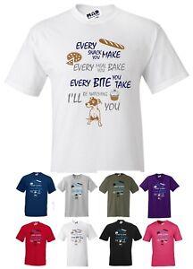 Every Bite You Take, I'll Be Watching You. Funny Dog T-shirt Jack Russell  S-5XL