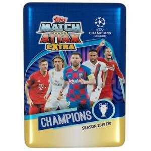 2019-20 Topps UEFA Champion League Soccer Match Attax EXTRA Tin NIB Trading Card