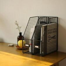 Wire file folder Organization Decorative document stand Book Desk Rack Office