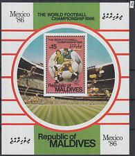 XG-Z008 MALDIVES IND - Football, 1986 Mexico '86 World Cup MNH Sheet
