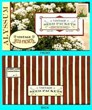 Alyssum - Vintage Seed Packets  First Day Cover with Color Cancel