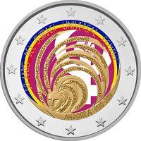 2 Euro Gedenkmünze Andorra 2020 coloriert / mit Farbe  Farbmünze Frauenwahlrecht