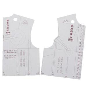 1: 5 Damen Kleidung Prototyp Lineal Zeichenvorlage, NähzubR_yk
