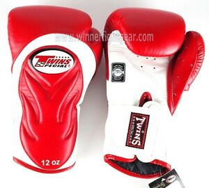 Twins Special Boxing Gloves BGVL-6 White/Red 14 oz Express Delivery