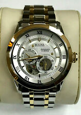 Bulova 98A230/98A123 Multi-function Two-Tone Automatic Men's Watch WARRANTY