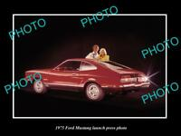 OLD LARGE HISTORIC PHOTO OF 1975 FORD MUSTANG COUPE LAUNCH PRESS PHOTO 2