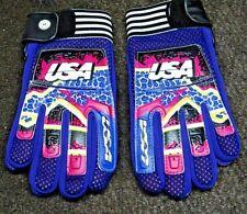 Blue and Flo Yellow UFO 2018 MX Enduro BMX Trace Gloves Medium