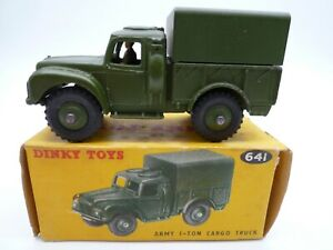 VINTAGE DINKY 641 ONE TON ARMY TRUCK IN ORIGINAL BOX 1954-61