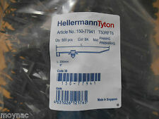 HELLERMANN TYTON CABLE TIE WITH FIR TREE, 200MM X 4.6 MM, T50R/FT6 Pack of  500
