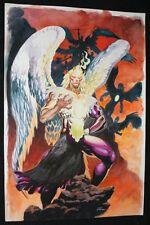 Crazy Angel Painted Art - Signed art by Lan Medina