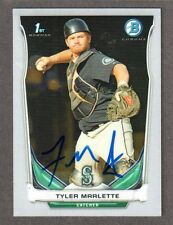 2014 BOWMAN CHROME BCP 108  Tyler Marlette  MARINERS  SIGNED AUTOGRAPH AUTO COA