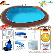 Schwimmbad Pool 6,00 m x 3,20 m x 1,50 m Set Ovalpool Ovalbecken oval Einbaupool