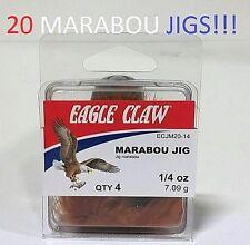 20 Eagle Claw 1/4oz. Brown Ball-Head Marabou Jigs (ECJM20-14) EB100104