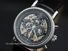Alpha Skeleton mechanical automatic watch