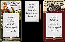 Notepad Shield with Magnet John Deere Harley Davidson - Refrigerator Kitchen