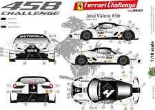 [FFSMC Productions] Decals 1/18 Ferrari F-458 Challenge 2012 de Jose Valera