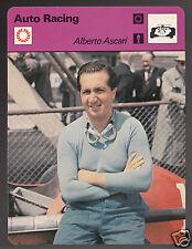 ALBERTO ASCARI Grand Prix Auto Racing Driver 1977 SPORTSCASTER CARD 04-17