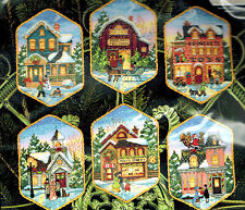 Christmas Village Ornaments Dimensions Gold Collection Cross Stitch Kit 8785 New