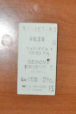 BIGLIETTO TRENO - FERROVIE - TRAIN TICKET - 1957 - TORINO / GENOVA (B1)