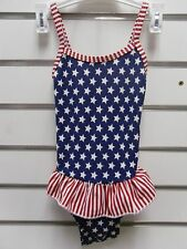 New Toddler Girls One piece USA Bathing Suit Size 4T (cut small)
