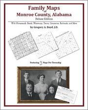 Family Maps Monroe County Alabama Genealogy AL Plat