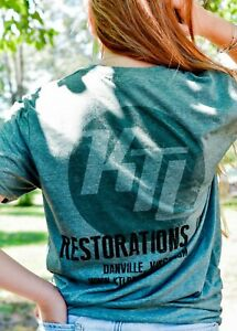 KTL Restorations Heather Forest Green Softstyle Vintage Inspired T