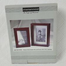 Melannco Shadow Box & Frame Walnut Finish Set of 2 Picture Memory Keepers New
