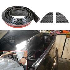 Universal 4.9ft Carbon Fiber PU Car Rear Roof Trunk Spoiler Wing Lip Sticker Kit