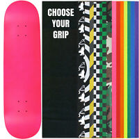"""Skateboard Deck Pro 7-Ply Canadian Maple NEON PINK With Griptape 7.5"""" - 8.5"""""""