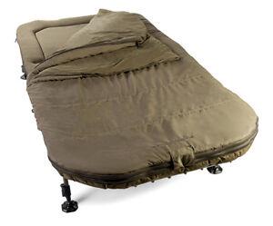 Avid Carp Benchmark X Memory Foam Sleep System Wide Fishing Bed XL