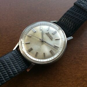 214 Bulova Accutron M7 1967 Stainless Steel Mens Wristwatch for Repair or Parts