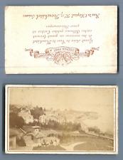 Bruder Frères, Suisse, Neuchâtel  CDV vintage albumen. Vintage Switzerland  Ti