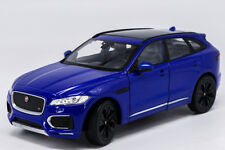 Welly 1:24 Jaguar F-Pace Diecast Model Sports Racing Car Toy Blue NEW IN BOX