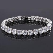 Schmuck Jewelry Fashion Woemn Round Cut White Topaz Dainty Tennis Bracelet