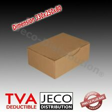 Boites postales d'expédition carton marron ou blanche 330x250x80mm Lots 5 à 400