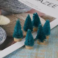 6x Mini Christmas Tree Sisal Silk Cedar - Decoration Small Christmas Tree JG