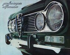 ALFA ROMEO GIULIA SUPER Limousine Classic Car Prospekt Brochure 85