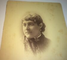 Rare Antique Victorian American Large Portrait of Clara Bourne! MA Cabinet Photo