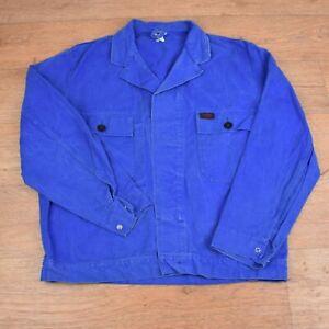 Vtg French EU Worker CHORE Work Shirt Jacket - Large Short #61 GRADE A