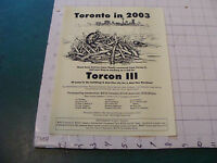 orig. Sci Fi paper(s) picked up at BOSKONE 35 in 1998: FLYER - TORCON III in '03