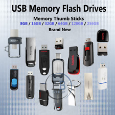 USB Flash Drive 8gb 16gb 32gb 64gb 128gb Memory Stick Photo Music Video lot Fast