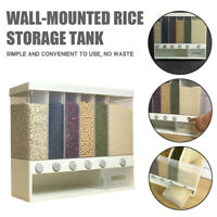 Whole Grains Rice Bucket Wall-Mounted Rice Storage Tank Out Rice Dispenser