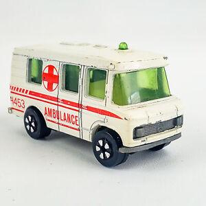 Vintage PlayArt Mercedes-Benz Ambulance Van 1:64 Hong Kong