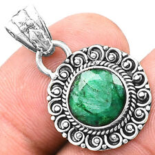 Emerald 925 Sterling Silver Pendant Jewelry SDP5647