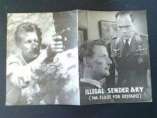 "Danish movie program.""Illegal Sender A.K.Y."""" World War 2 film.1955"