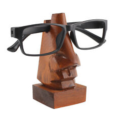 Wooden Nose-Shaped Spectacles Glasses Holder Stand Gift Sheesham Wood